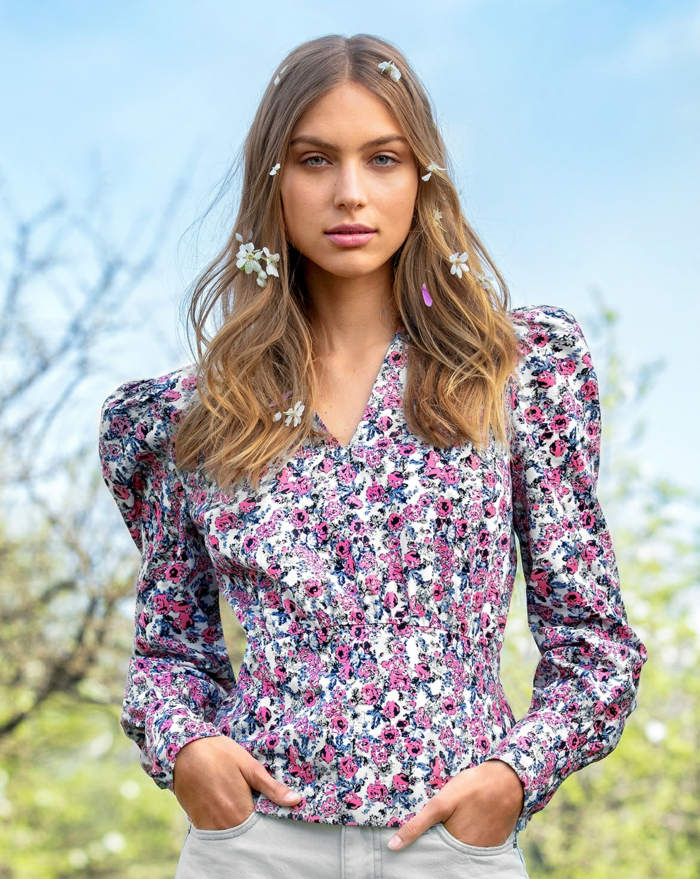 manches bouffantes blouse florale mode 2020