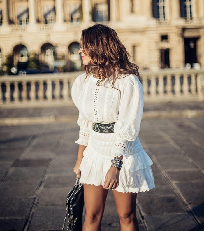 manches bouffantes robe blanche broderie anglaise