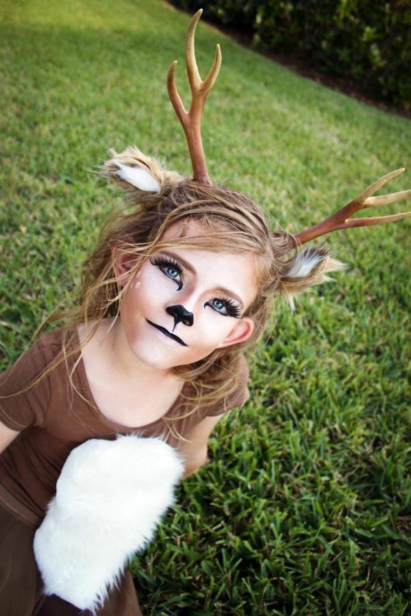 maquillage halloween enfant cerf