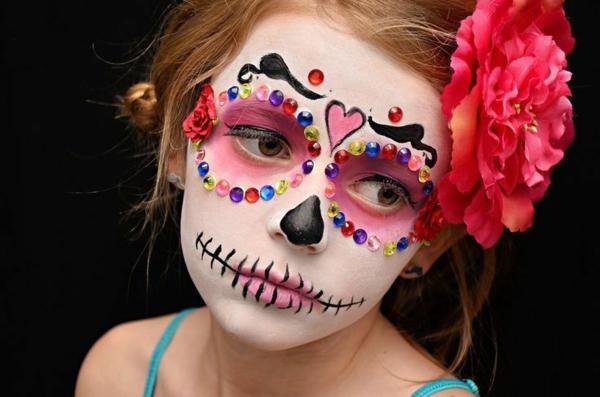 maquillage halloween enfant crâne de sucre