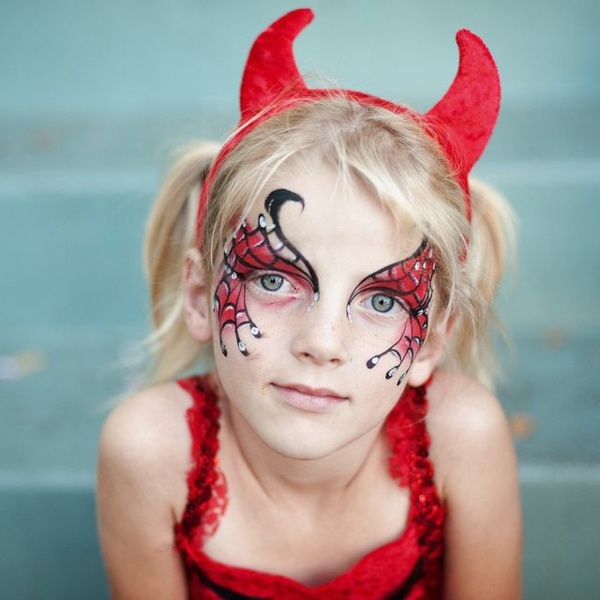 maquillage halloween enfant diable