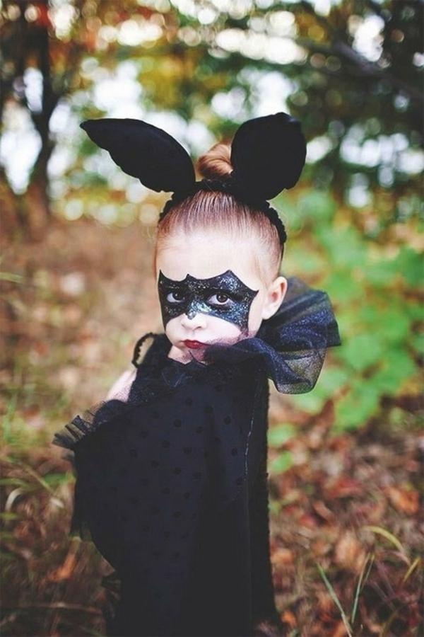 maquillage halloween enfant fille chauve-souris