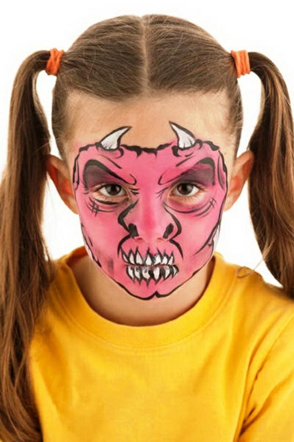 maquillage halloween enfant fille diable