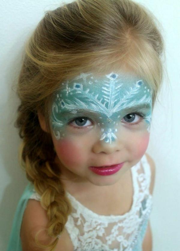 maquillage halloween enfant fille elsa