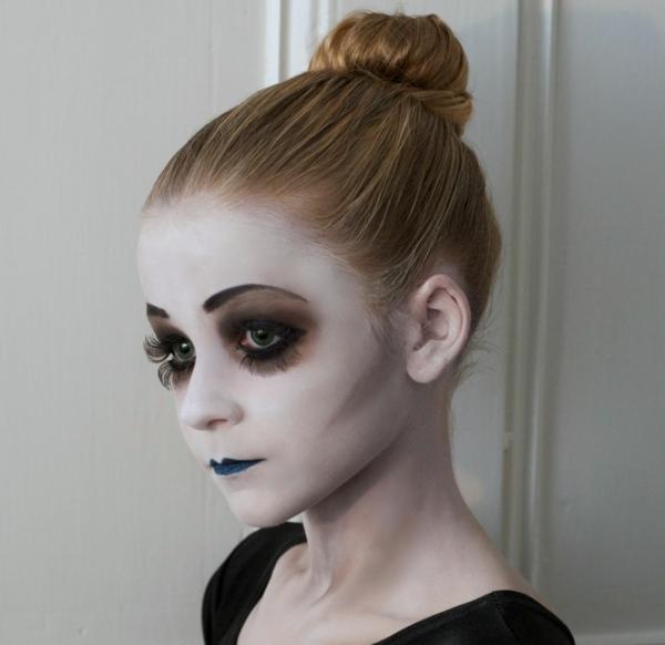maquillage halloween enfant fille fantôme