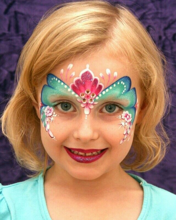 maquillage halloween enfant fille fleur