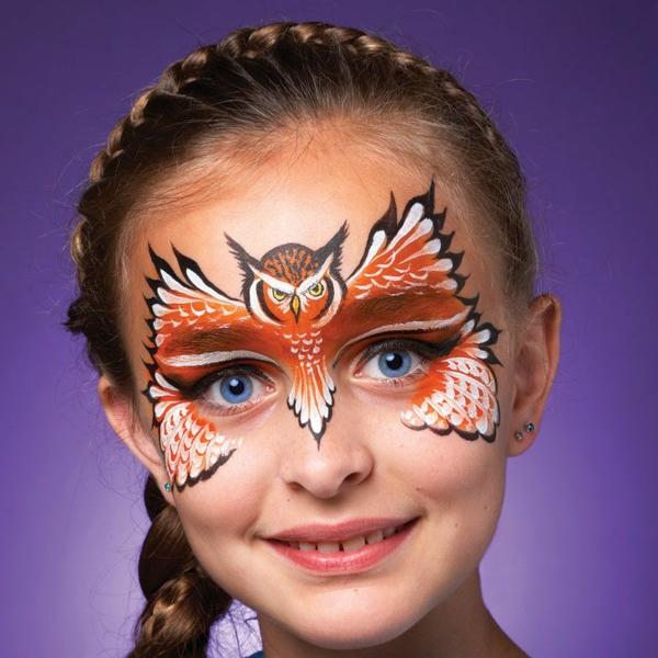 maquillage halloween enfant fille hibou