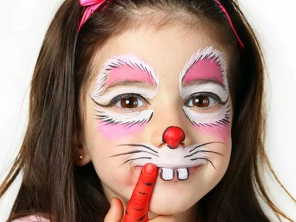 maquillage halloween enfant fille lapin