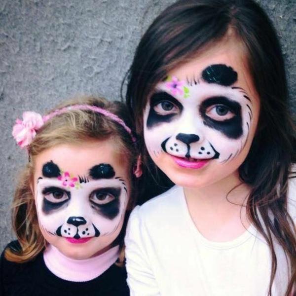 maquillage halloween enfant fille panda