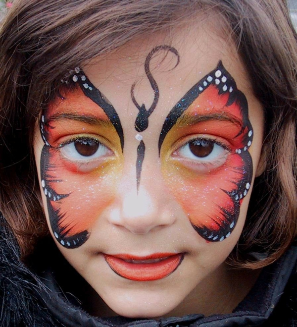 maquillage halloween enfant fille papillon