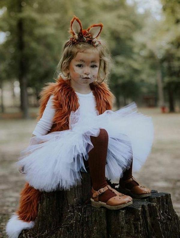 maquillage halloween enfant fille renard