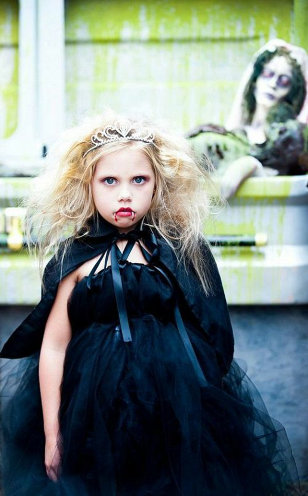 maquillage halloween enfant fille vampire