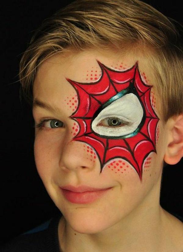 maquillage halloween enfant garçon toile d'araignée
