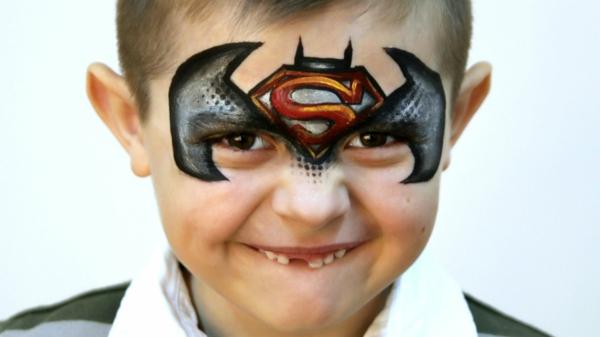 maquillage halloween enfant garçon batman