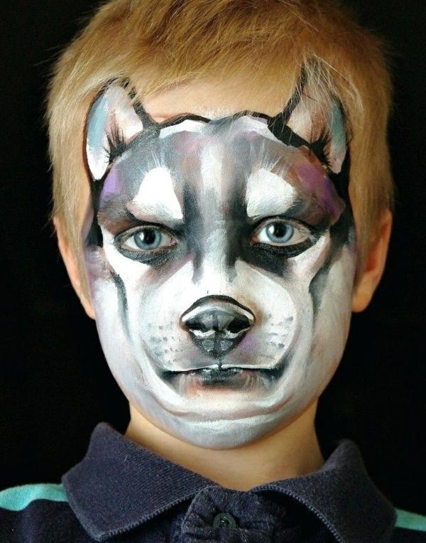 maquillage halloween enfant garçon chien