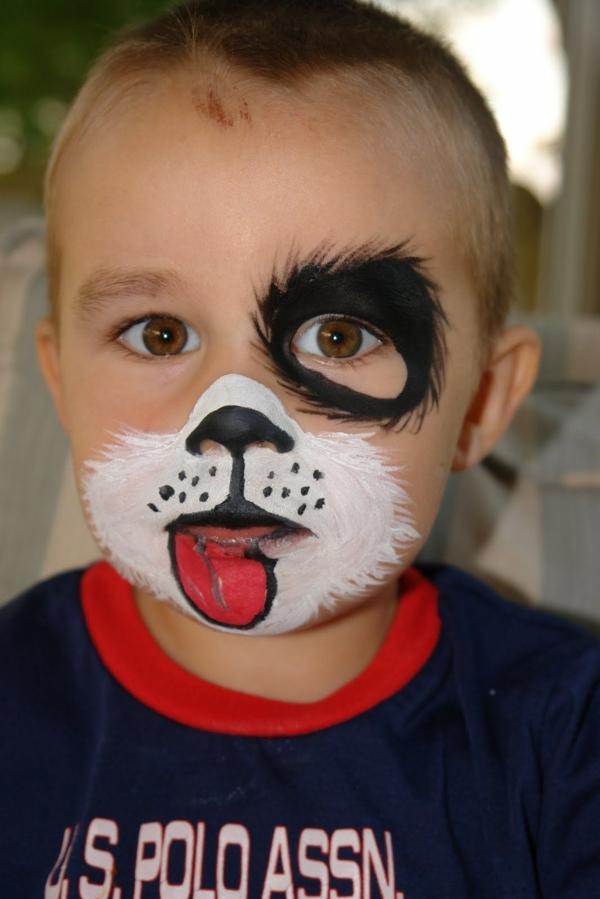 maquillage halloween enfant garçon chiot