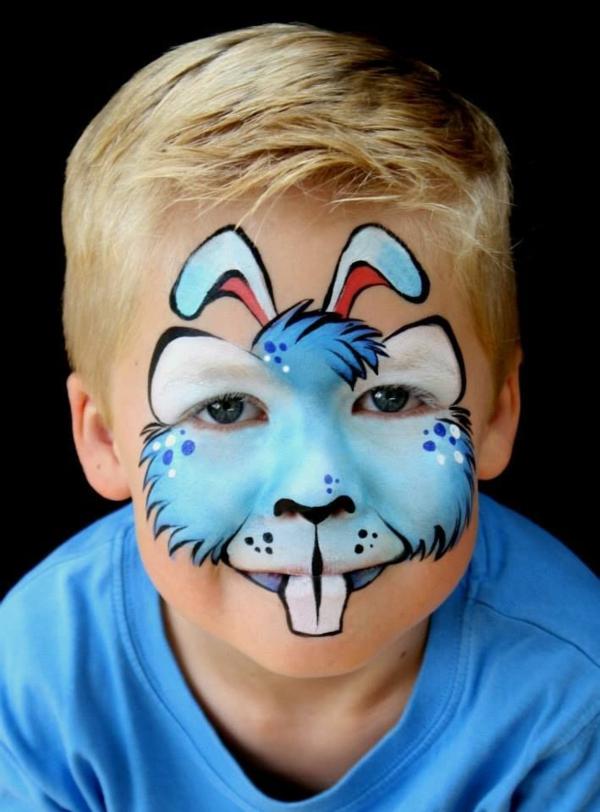 maquillage halloween enfant garçon lapin
