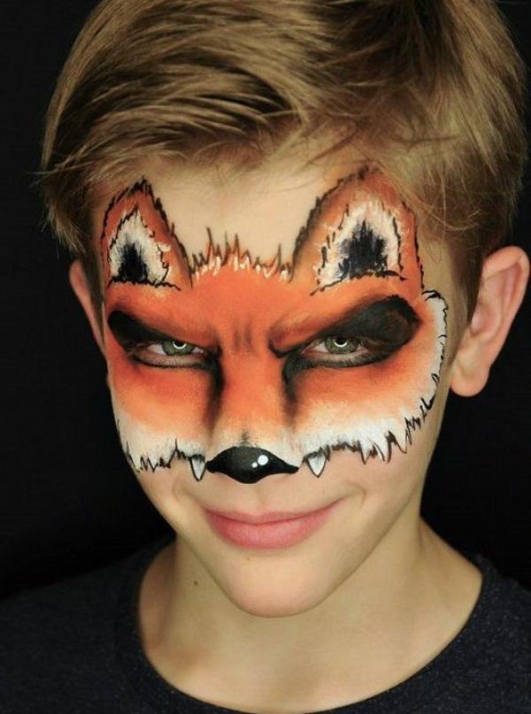 maquillage halloween enfant garçon renard