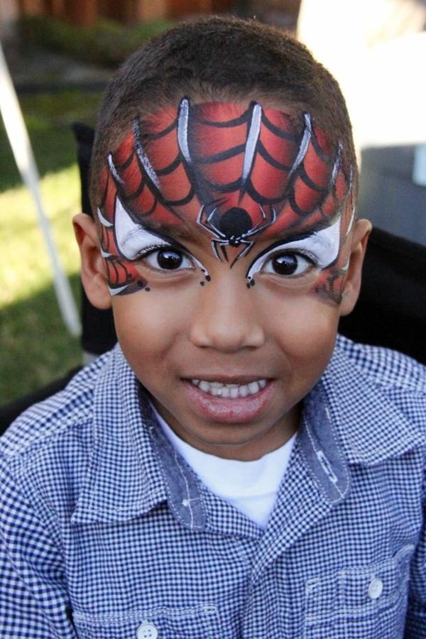 maquillage halloween enfant garçon spiderman