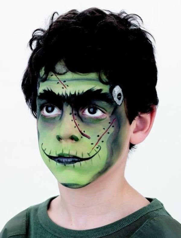 maquillage halloween enfant garçon zombie