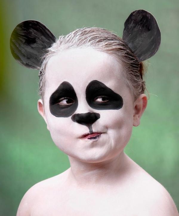 maquillage halloween enfant panda