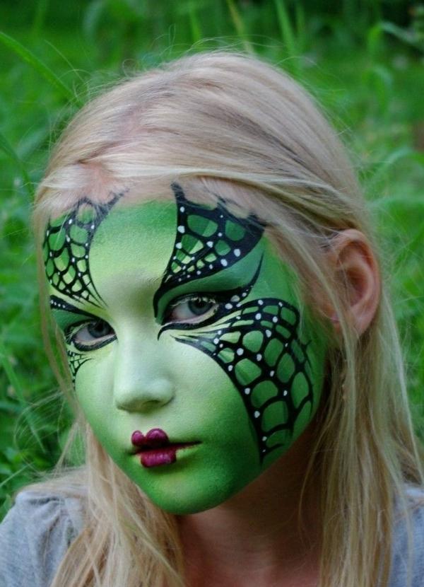 maquillage halloween enfant papillon