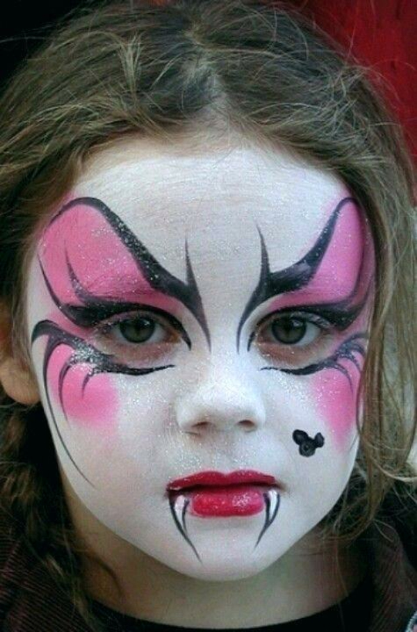 maquillage halloween enfant petite fille vampire