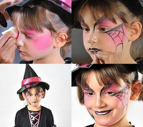 maquillage halloween enfant petite sorcière