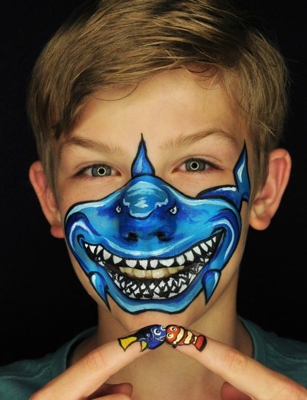 maquillage halloween enfant requin