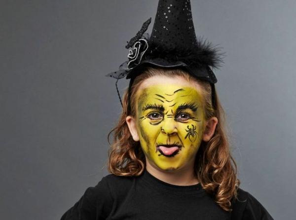 maquillage halloween enfant sorcière