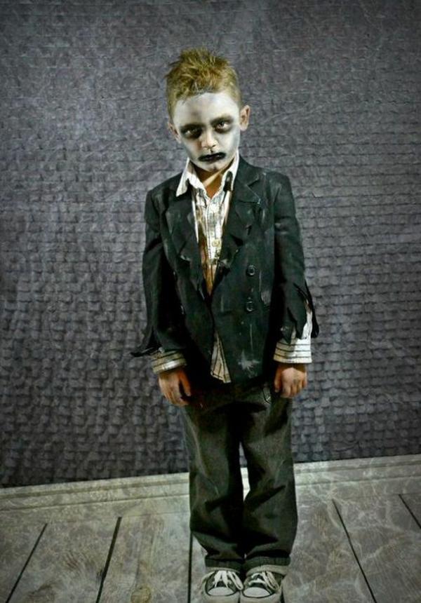 maquillage halloween enfant zombie