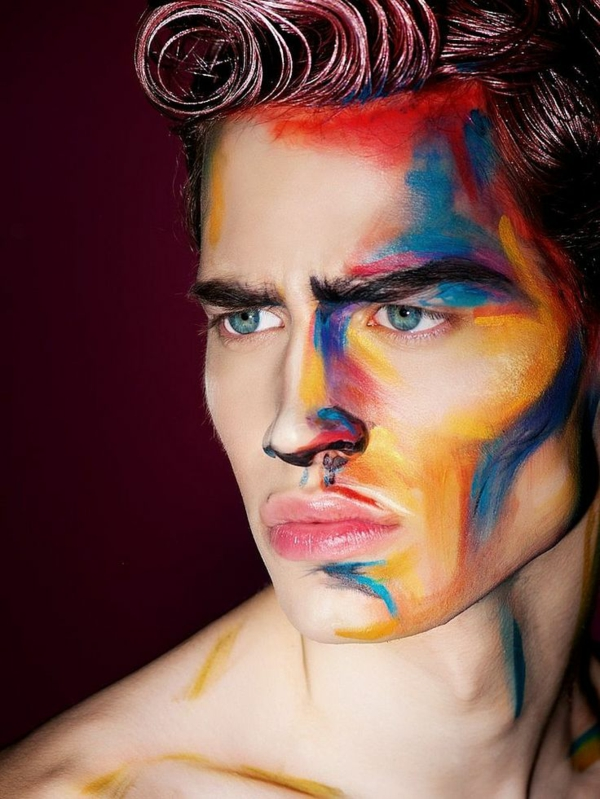 maquillage halloween homme abstrait