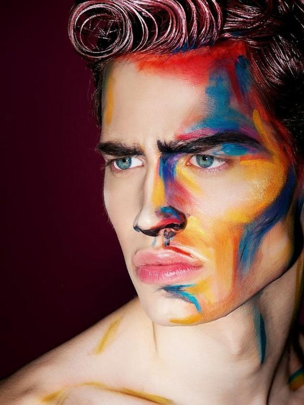 maquillage halloween homme abstrait