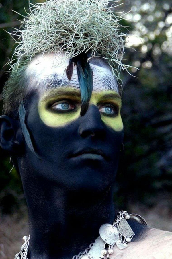 maquillage halloween homme cannibale