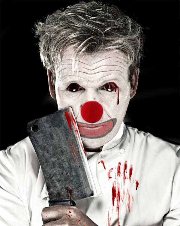 maquillage halloween homme clown