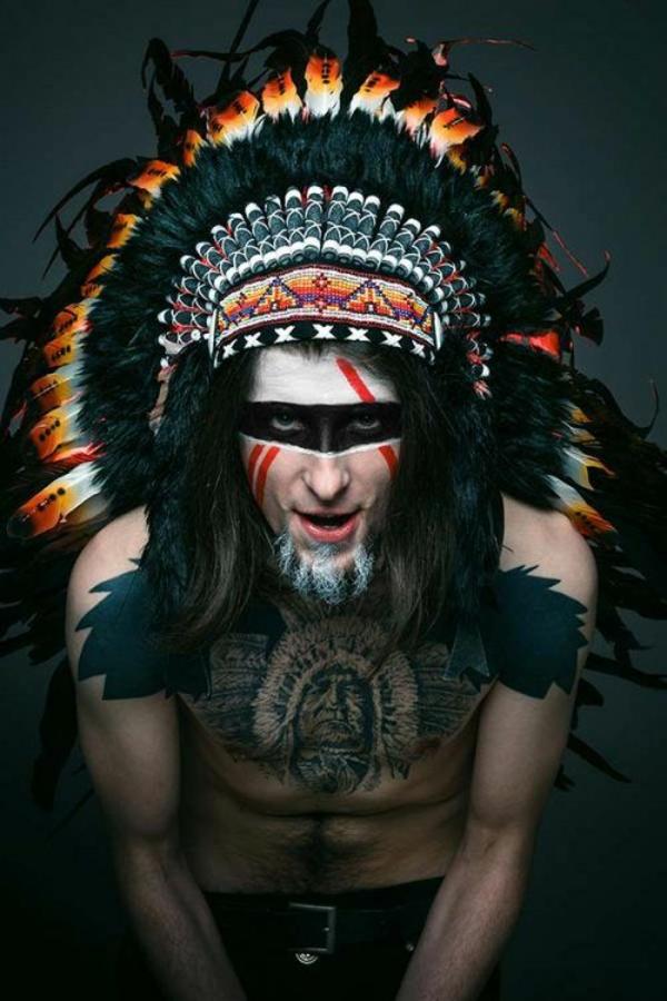 maquillage halloween homme indien