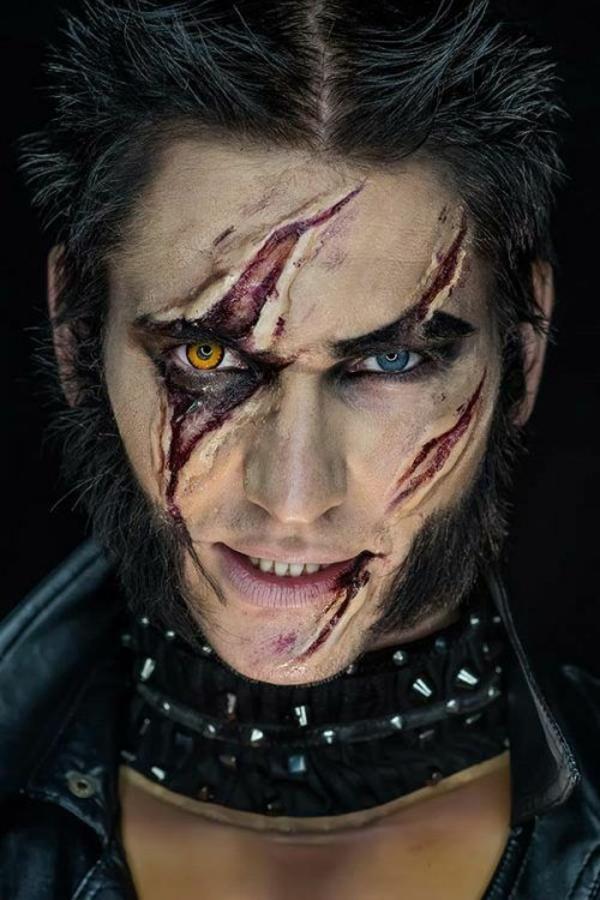 maquillage halloween homme loup-garou