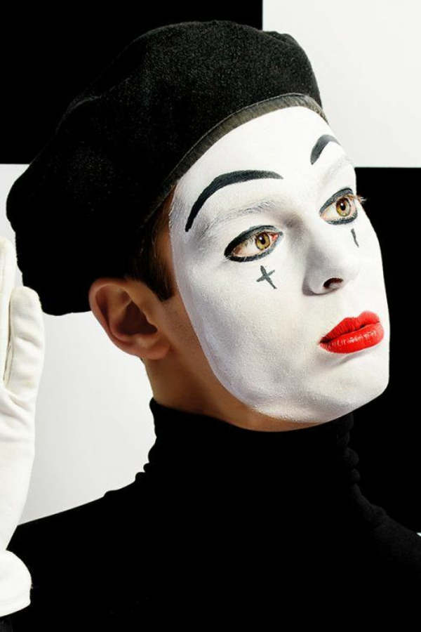 maquillage halloween homme mime