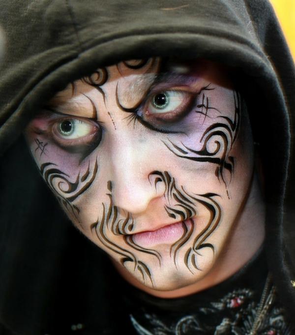 maquillage halloween homme sorcier