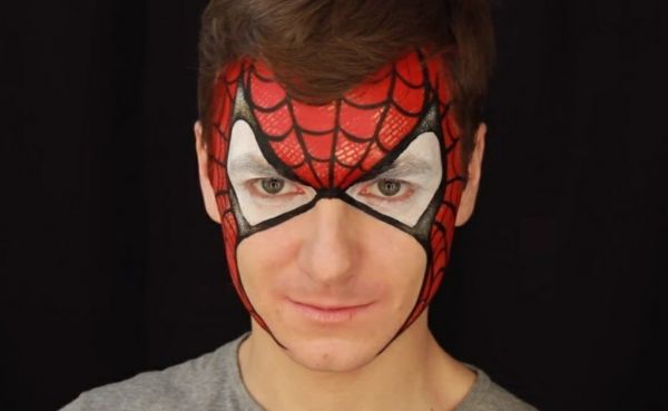 maquillage halloween homme spiderman