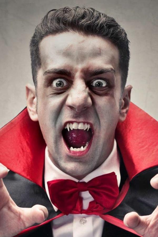 maquillage halloween homme vampire classique