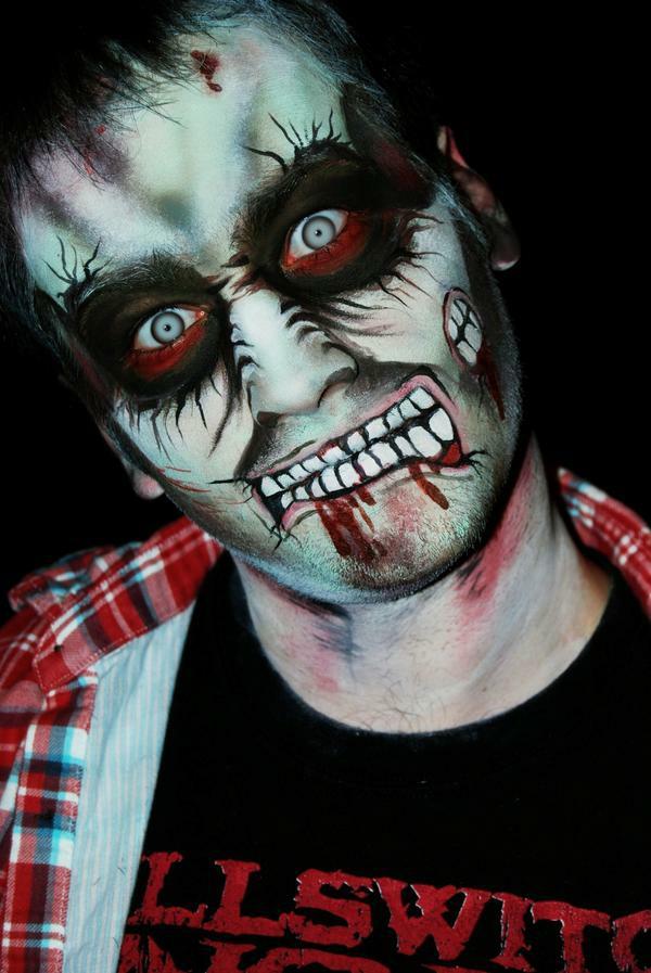 maquillage halloween homme zombie série animée