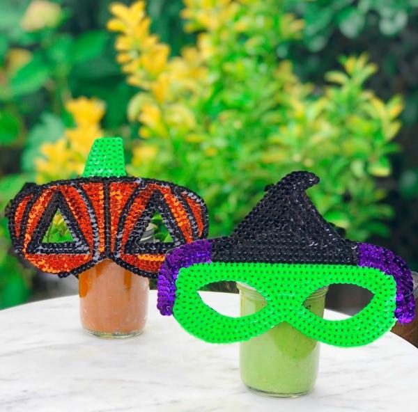 masque halloween à fabriquer vous-même avec des paillettes