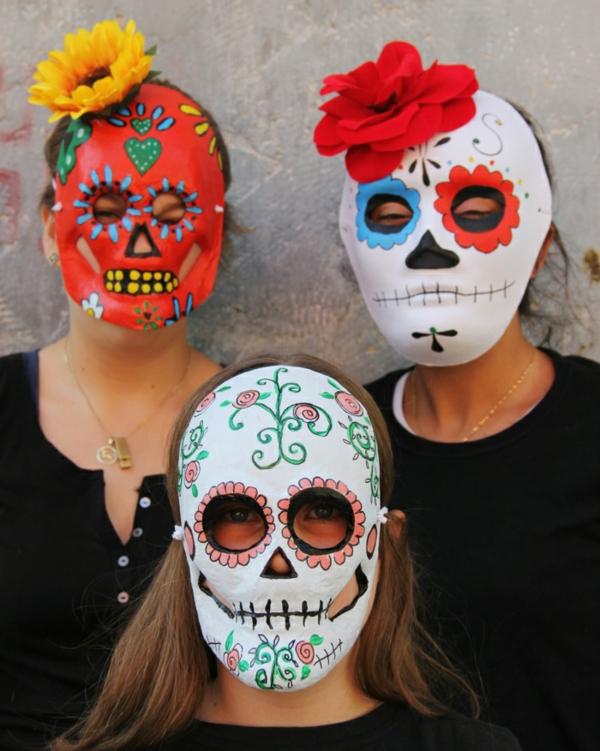 masque halloween à fabriquer vous-même crâne mexicain