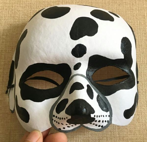 masque halloween à fabriquer vous-même dalmatien