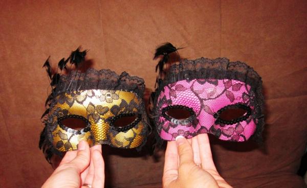 masque halloween à fabriquer vous-même de dentelle noire