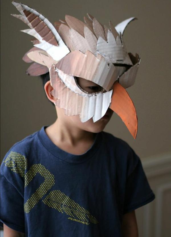 masque halloween à fabriquer vous-même en carton