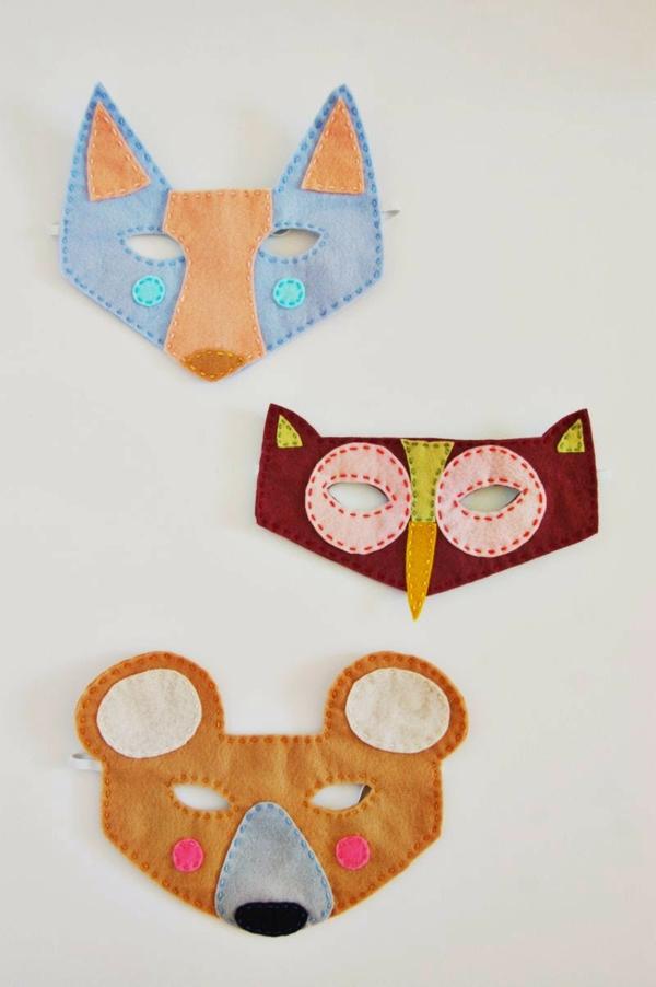 masque halloween à fabriquer vous-même en feutrine