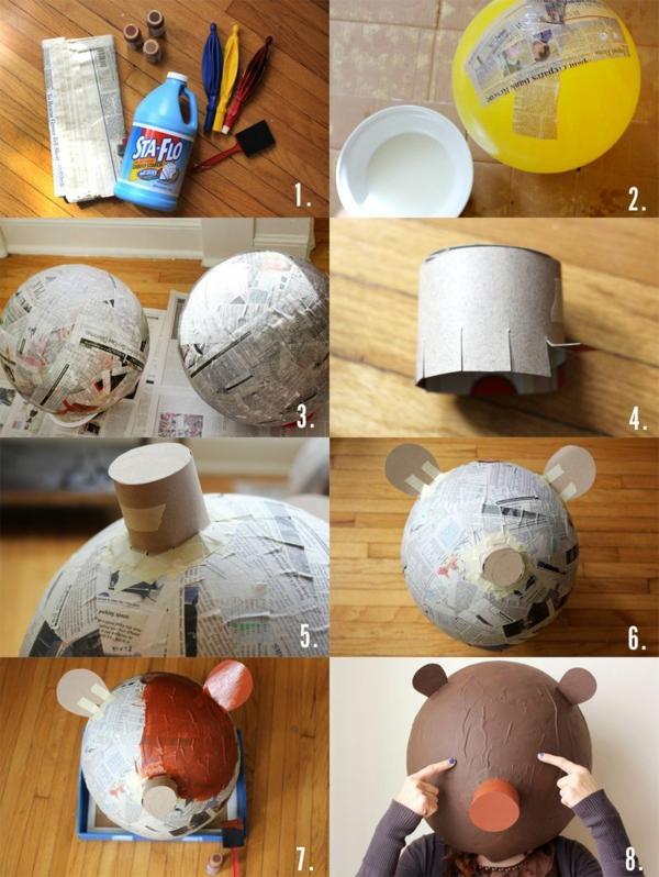 masque halloween à fabriquer vous-même en papier mâché