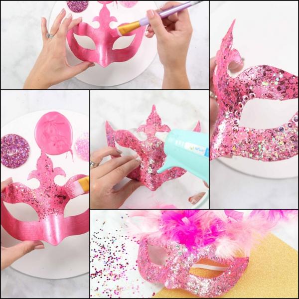 masque halloween à fabriquer vous-même flamant